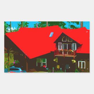小屋2 長方形シール