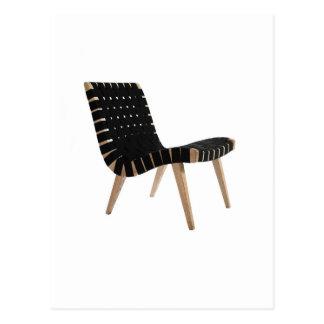 小山の世紀半ばのモダンな革紐の椅子によるイェンスRISOM ポストカード