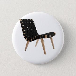 小山の世紀半ばのモダンな革紐の椅子によるイェンスRISOM 5.7CM 丸型バッジ
