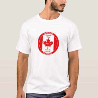 小川のアルバータカナダ日のTシャツ Tシャツ