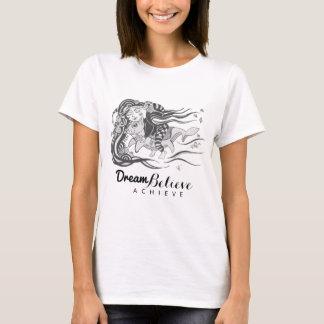 小悪魔犬魚は夢が信じる|のTシャツを達成します Tシャツ