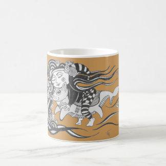 小悪魔犬魚、夢、マスタードYelloeへの挑戦 コーヒーマグカップ