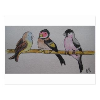 小枝の小鳥 ポストカード