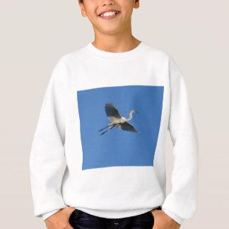 小枝を搭載する飛んでいるな白鷺 スウェットシャツ