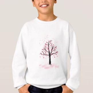 小柄いピンクの桜-手描きのスケッチ スウェットシャツ
