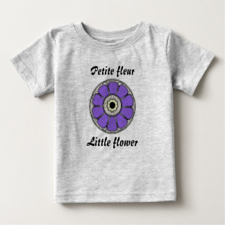 小柄いフルーアか少し花 ベビーTシャツ