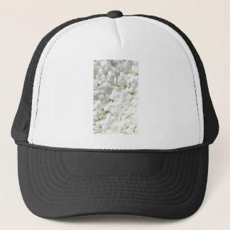 小柄く白いアジサイの花 キャップ