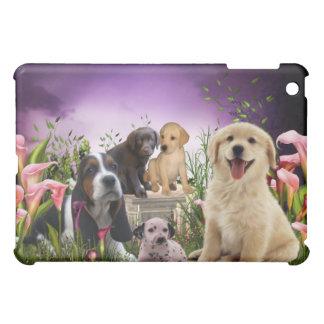 小犬のオランダカイウユリの庭 iPad MINIケース