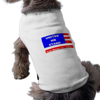 小犬のセーターのジャケット-神は米国を賛美します ペット服