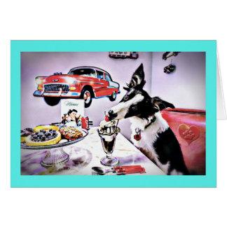 小犬のダイナーのバースデー・カード カード