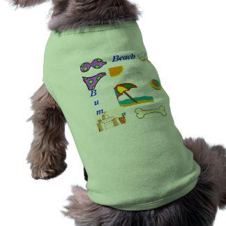 小犬のビーチののらくら者のワイシャツ ペット服