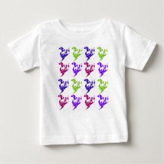 小犬のポップアート ベビーTシャツ