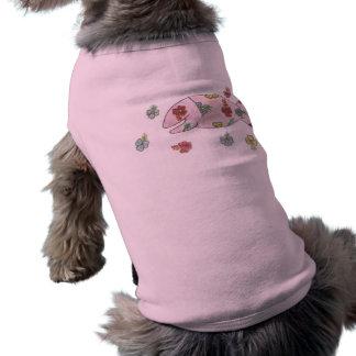 小犬の信号器のTシャツ ペット服