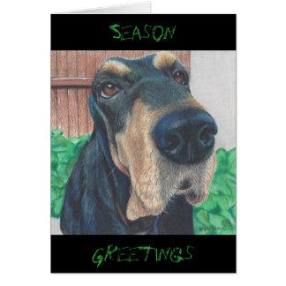 小犬の季節の挨拶状 カード