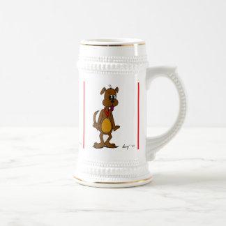小犬の漫画ステイン ビールジョッキ