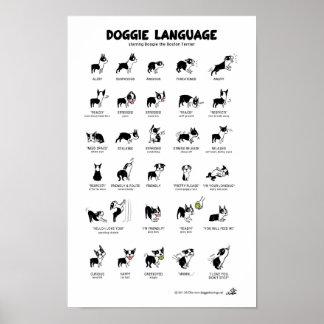 小犬の言語大きいポスター ポスター