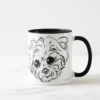 小犬の風刺漫画のマグ13a マグカップ