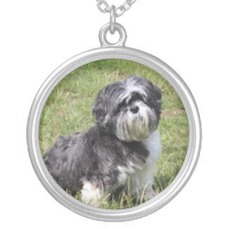 小犬愛 シルバープレートネックレス