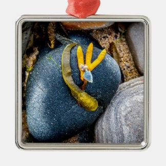 小石および海藻 メタルオーナメント