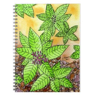 小石および花 ノートブック