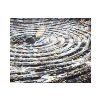 小石の渦 キャンバスプリント