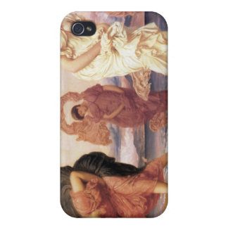 小石-フレデリックLeighton --を取っているギリシャの女の子 iPhone 4/4S Cover