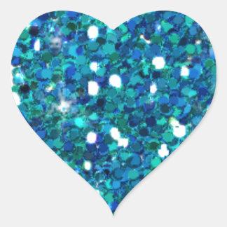 小石、青及び緑の石のAqaticのデザイン、 ハートシール