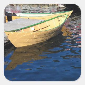 小舟のステッカー スクエアシール