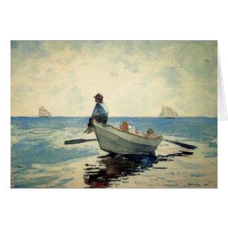 小舟の海の男の子 カード