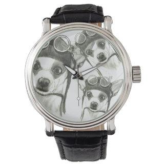 小舟キャロルZeock著ChiWee (小さいチワワ) 腕時計