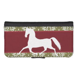 小走りに走る馬の休日のクリスマス iPhoneSE/5/5sウォレットケース
