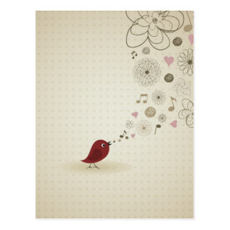 小鳥は歌います ポストカード
