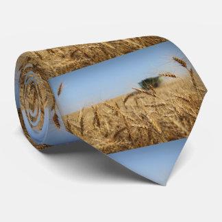 小麦畑のコンバイン ネクタイ