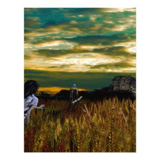 小麦畑の日没 レターヘッド
