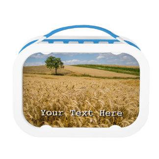 小麦畑の景色の木 ランチボックス