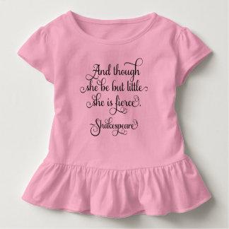 少しある彼女は激しいです。 シェークスピア トドラーTシャツ