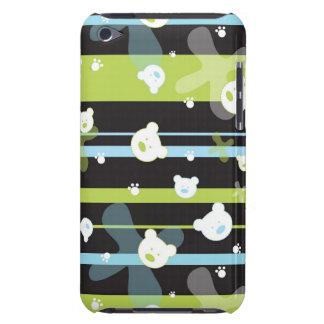 少しくまが付いているかわいいパターン Case-Mate iPod TOUCH ケース