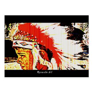 少しくまのインディアン ポストカード