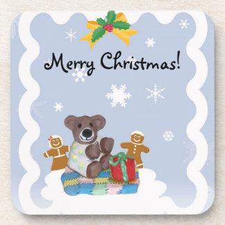 少しくまのクリスマスのコースター コースター