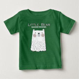 少しくまの森林動物のTシャツ ベビーTシャツ