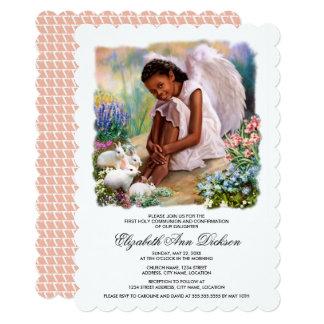 少しアフリカの天使の聖餐式の招待状 カード