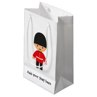 少しイギリスの王室のな監視(金髪) スモールペーパーバッグ
