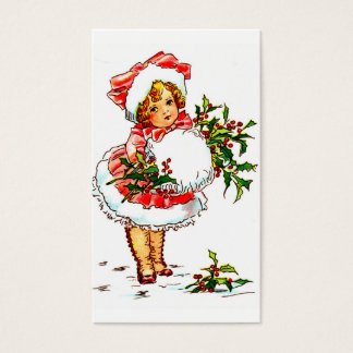 """""""少しクリスマスの女性"""" 名刺"""