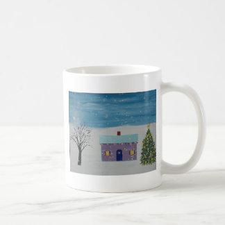 少しクリスマスの家 コーヒーマグカップ