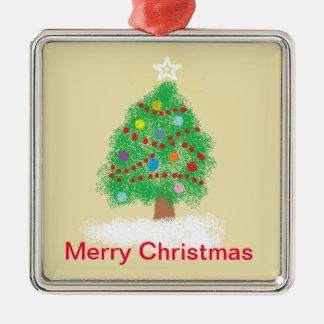 少しクリスマスツリー メタルオーナメント