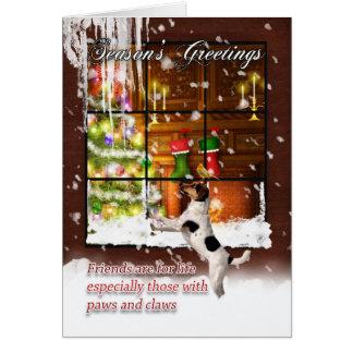 少しジャッキrが付いている季節の挨拶の休日カード カード
