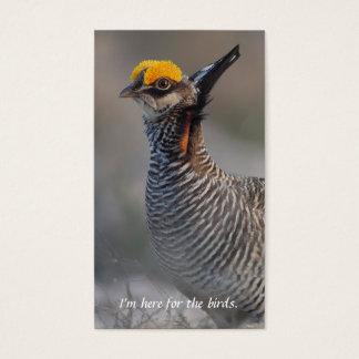 少しソウゲンライチョウの鳥類捕獲人のテレホンカード 名刺