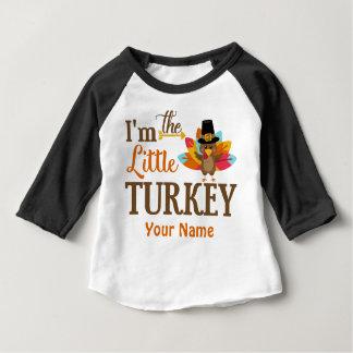 少しトルコの感謝祭の名前入りなTシャツ ベビーTシャツ