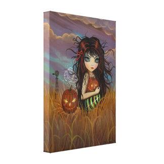 少しハロウィンの妖精のキャンバスのプリント キャンバスプリント