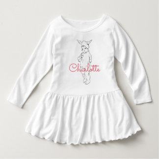 少しバニーの名前入りなワイシャツ ドレス